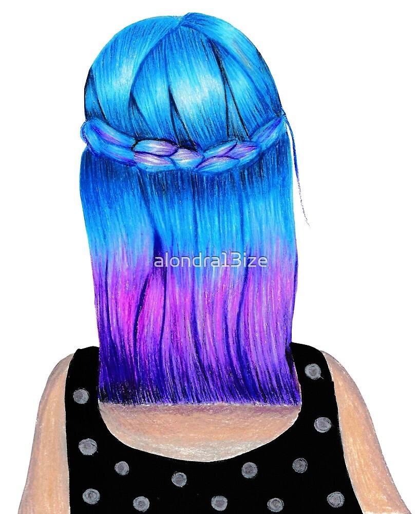 Blue & violet by alondra13ize
