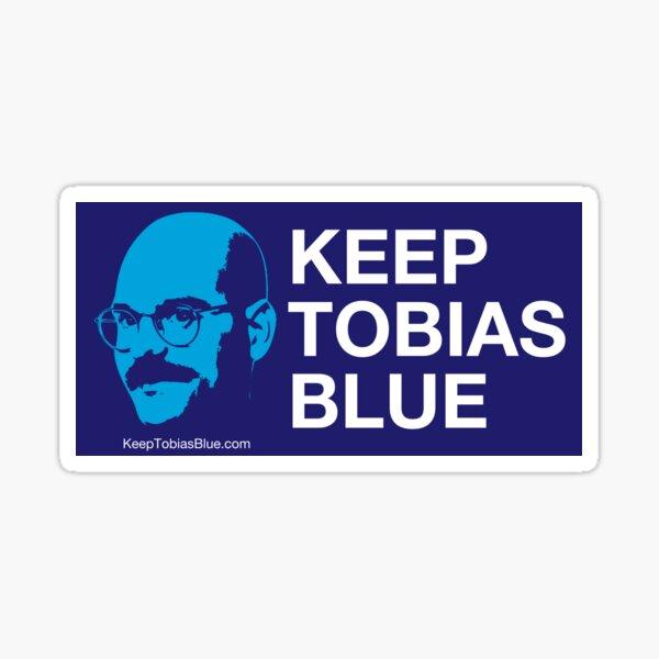 Mantener a Tobias Blue Pegatina