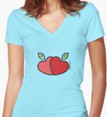 Adam's Apple ... Women's Fitted V-Neck T-Shirt