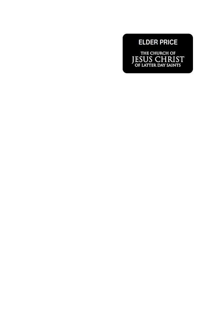 Book of Mormon Name tag - Elder Price  by MTheatreShop
