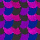 Mermaid Scales Black / Pink / Purple by Jessica Slater