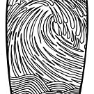 Longboard Wave T Shirt by Fangpunk