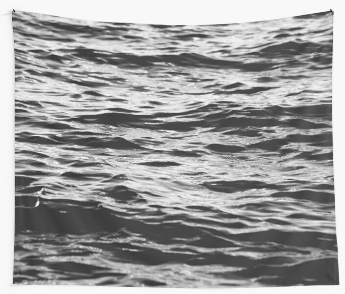 Black and White Ocean Sea Waves by artcascadia