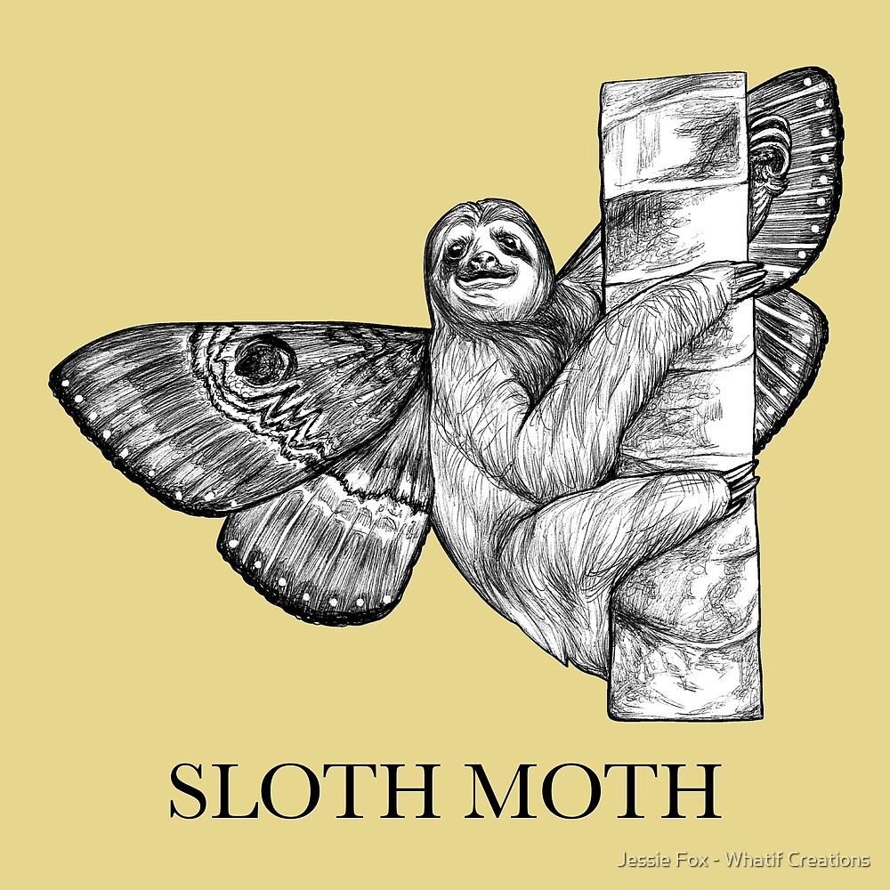 Sloth Moth, Sloth + Moth Hybrid Animal by Jessie Fox - Whatif Creations