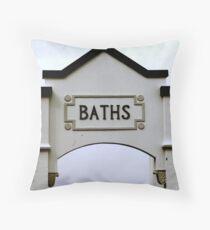 Coogee Baths Throw Pillow