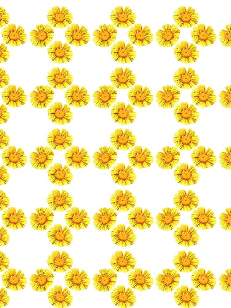 Yellow Flower Cross Pattern by allovervintage