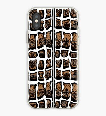 Blanc et noire iPhone Case