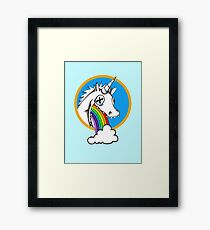 Drunk Unicorns Make Rainbows! Framed Print