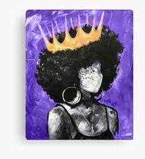 Naturally Queen II PURPLE  Canvas Print