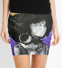 Naturally Queen II PURPLE  Mini Skirt
