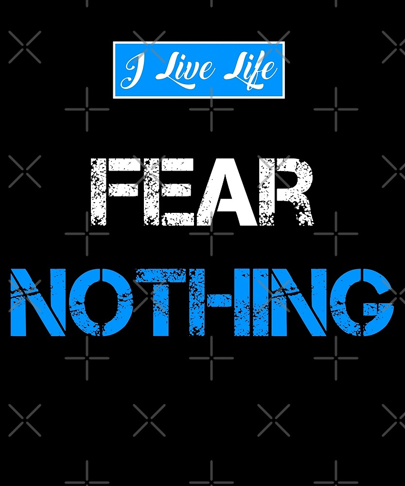 I Live Life Workout Fear Nothing Distressed Fitness Design by ilivelifeill