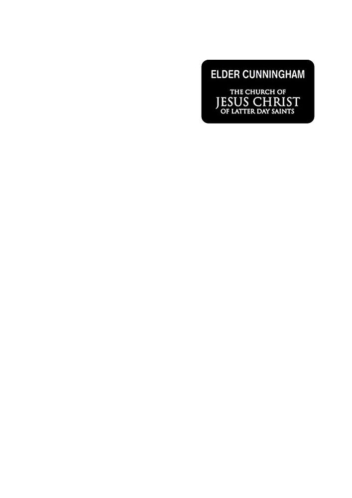 Book Of Mormon name tag design - Elder Cunningham by MTheatreShop