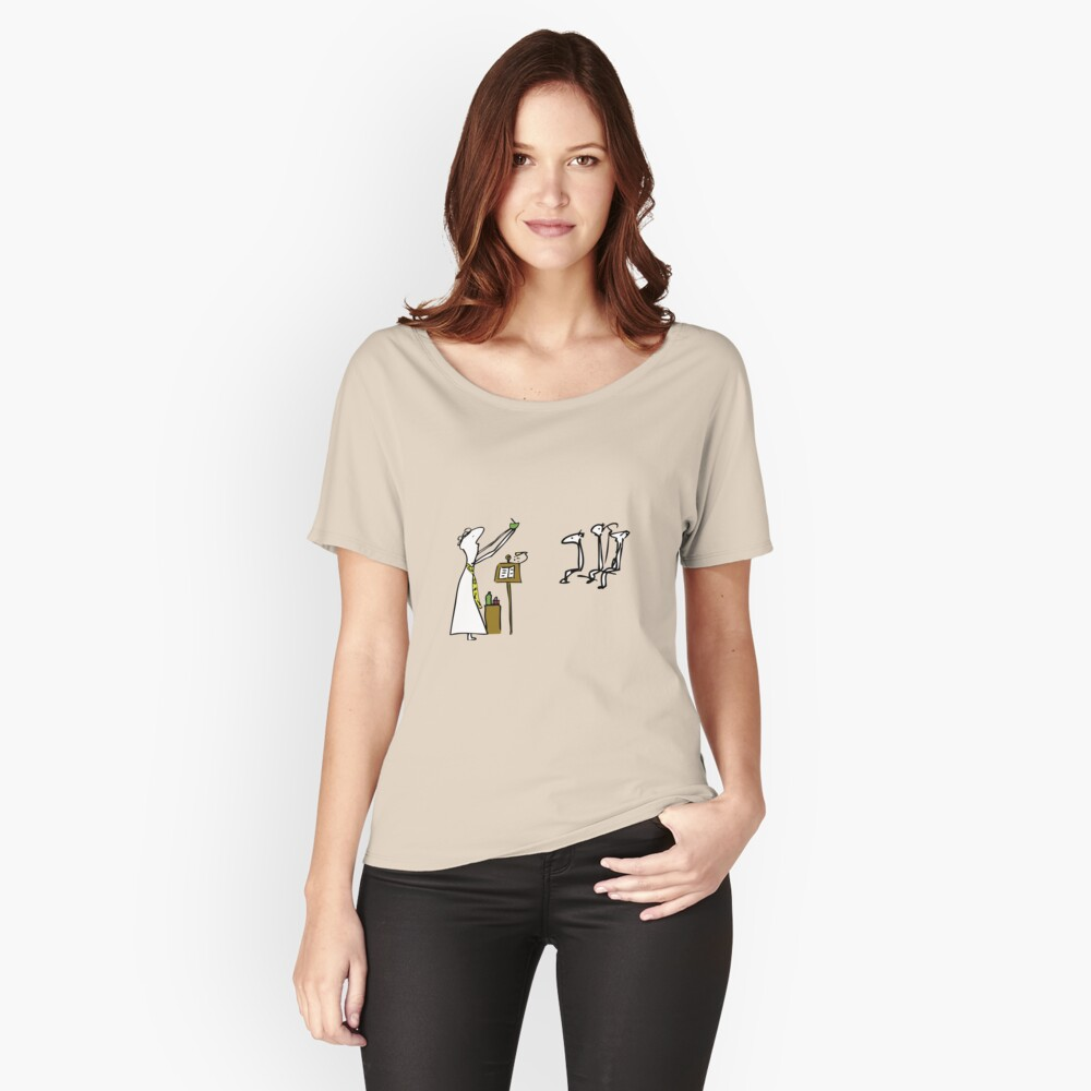Now the chalice is a mate. Women's Relaxed Fit T-Shirt Front
