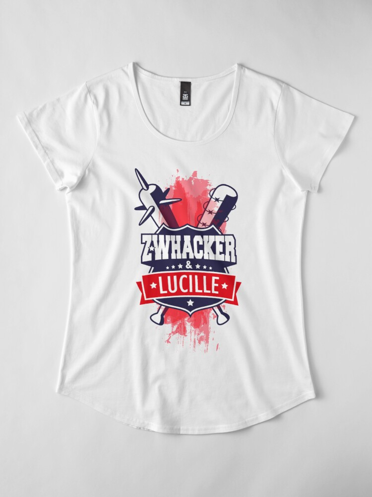 Vista alternativa de Camiseta premium de cuello ancho Z-Whacker & Lucille