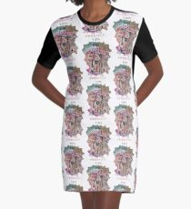 Life's Purrvect! Graphic T-Shirt Dress