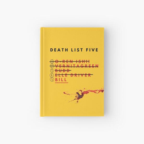 Kill Bill- Death List  Hardcover Journal