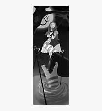 Sally The Nightmare Before Christmas Tightrope Girl BW Photographic Print