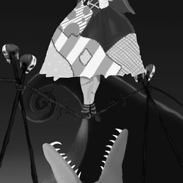 Sally The Nightmare Before Christmas Tightrope Girl BW by BondofBlood