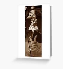 Sally The Nightmare Before Christmas Tightrope Girl Sepia Greeting Card