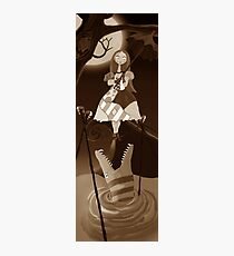 Sally The Nightmare Before Christmas Tightrope Girl Sepia Photographic Print