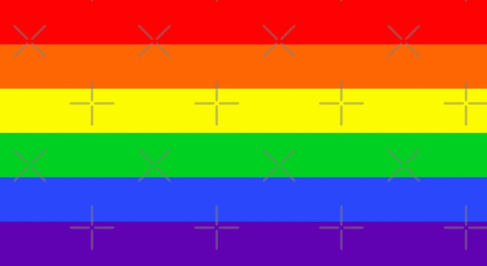 Large Gay Pride Rainbow Flag by litmusician