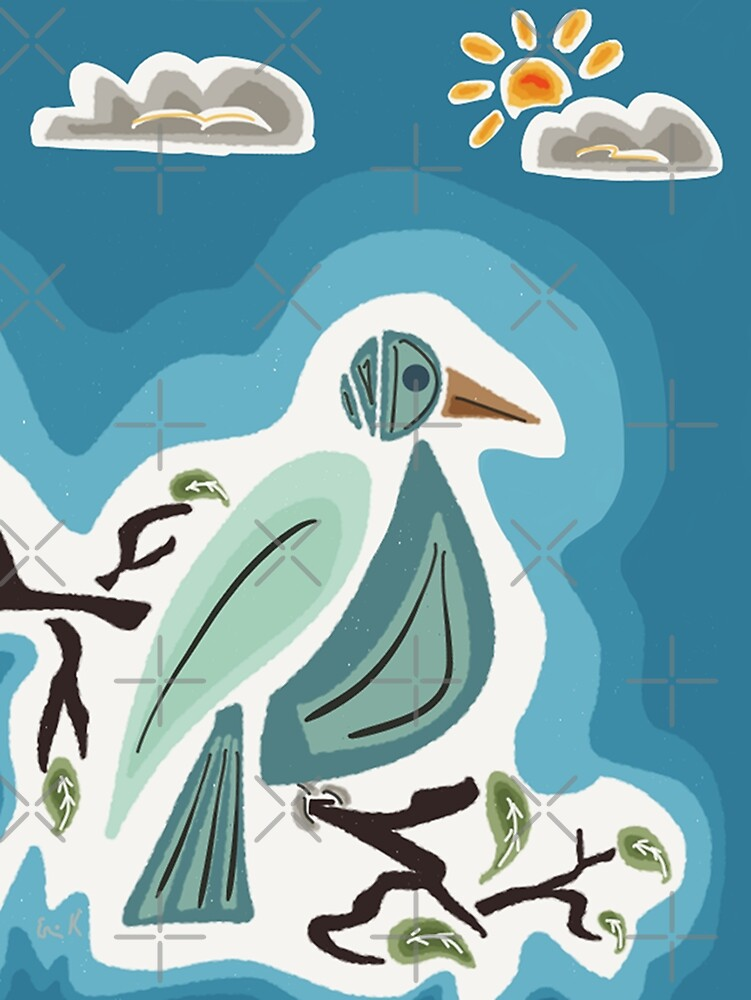 Bird On A Branch by Erniesartwork