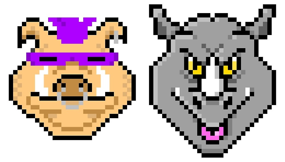 Bebop and Rocksteady Pixels by Rilly579