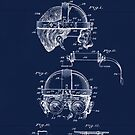 Antique Welders Goggles blueprint drawing by Glimmersmith