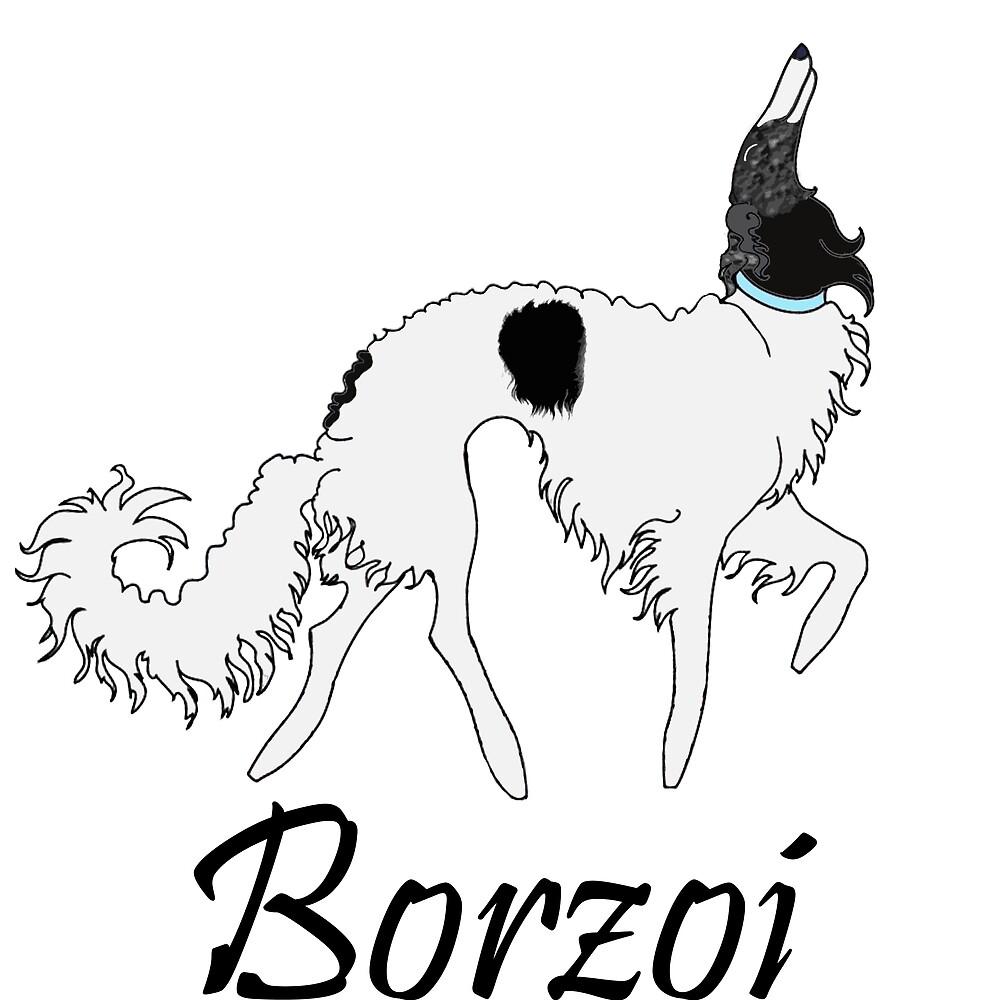 Baby Blue Borzoi by Happy Dog Swag