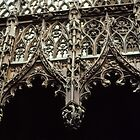 Wood Carving at top Back choir 1508 Cathedral Amiens France NOT FOR SALE 19840821 0079 by Fred Mitchell