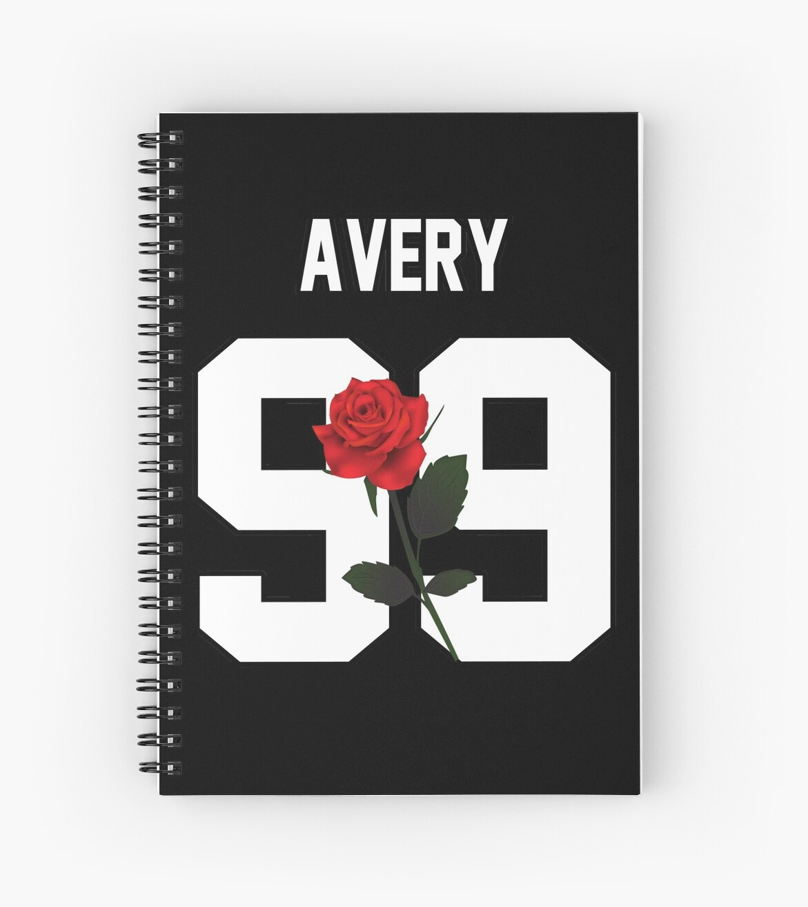 Red Flower Wall Stickers Quot Jack Avery Rose Quot Spiral Notebooks By Amandamedeiros