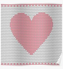Heart knit Poster