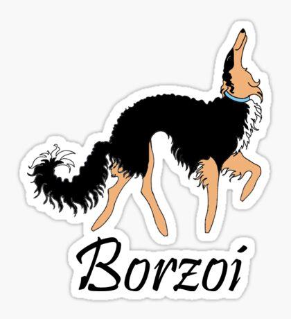 Black and Tan Borzoi Sticker