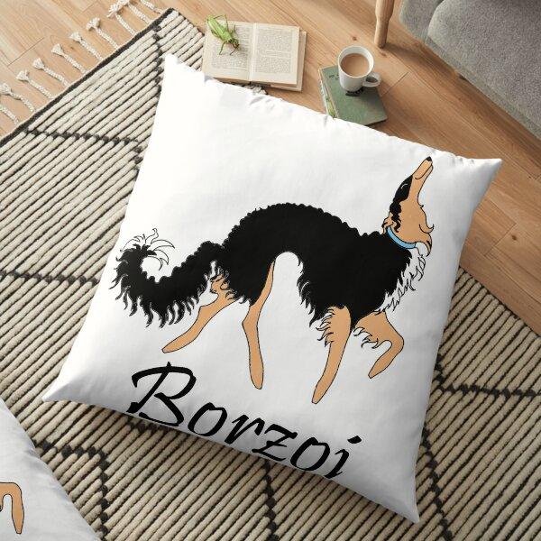 Black and Tan Borzoi Floor Pillow