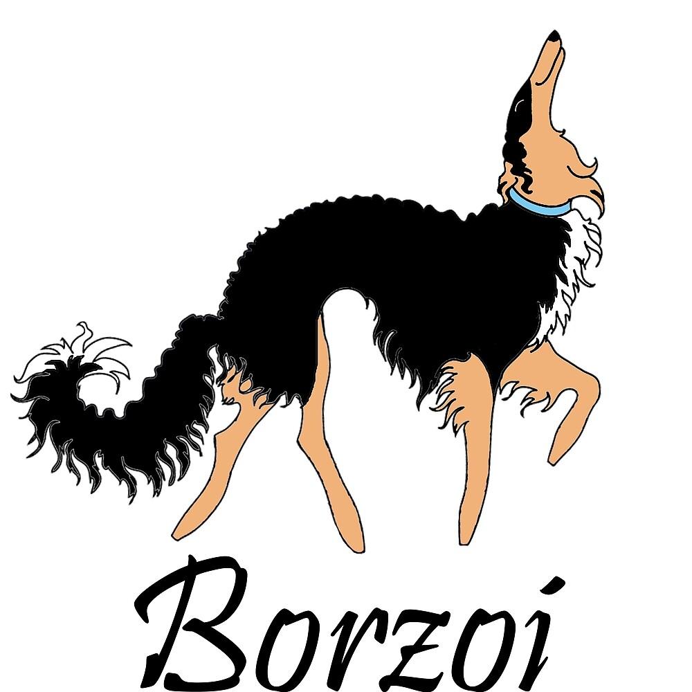 Black and Tan Borzoi by Happy Dog Swag