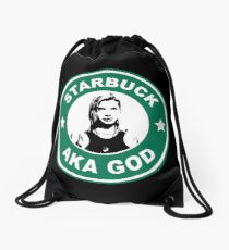 Starbuck is my god Drawstring Bag