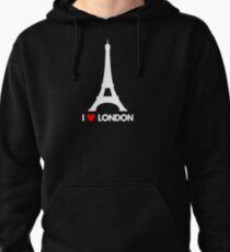 I Heart London Eiffel Tower - Joke T-Shirt  Pullover Hoodie