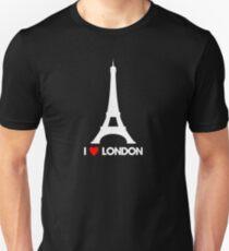 Camiseta ajustada I Heart London Eiffel Tower - Camiseta de broma