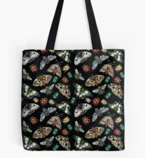 Lino Print Bugs and Insects Tote Bag