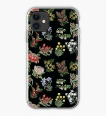 Native Flower Lino Print iPhone Case