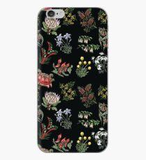 Native Flower Lino Print iPhone Case
