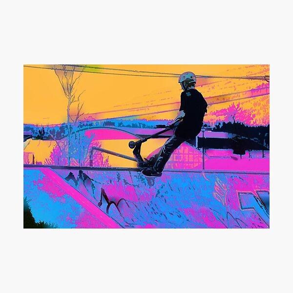 On Edge -  Stunt Scooter Artwork Photographic Print