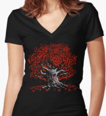 Winterfell Weirwood Women's Fitted V-Neck T-Shirt