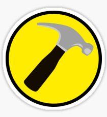 Captain Hammer (outlined) Sticker