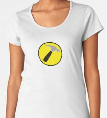 Captain Hammer (outlined) Women's Premium T-Shirt