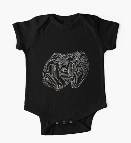 White Lined Hearts Kids Clothes