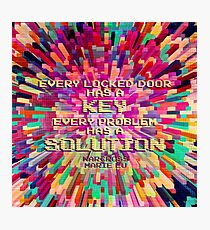 Every locked door has a key. Every problem has a solution. Warcross. Photographic Print