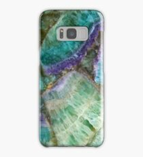 Colorful Fluorite semi precious gem stone Samsung Galaxy Case/Skin