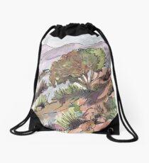 Winter in Kromdraai Drawstring Bag