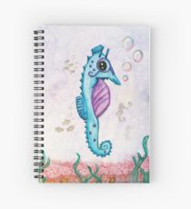 Born to Stand Out - Watercolor Seahorse Spiral Notebook